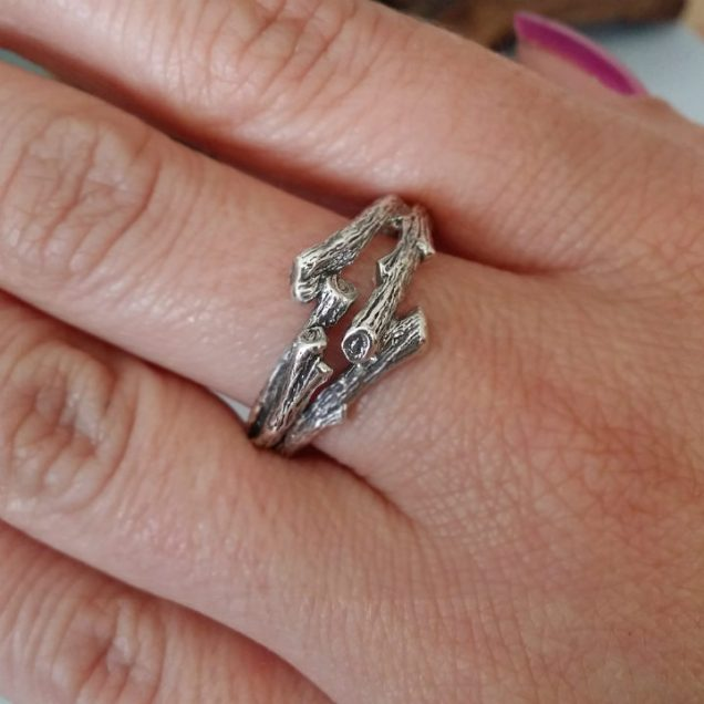 Dawn Vertrees Raw Uncut Rough Engagement Wedding Rings Twig
