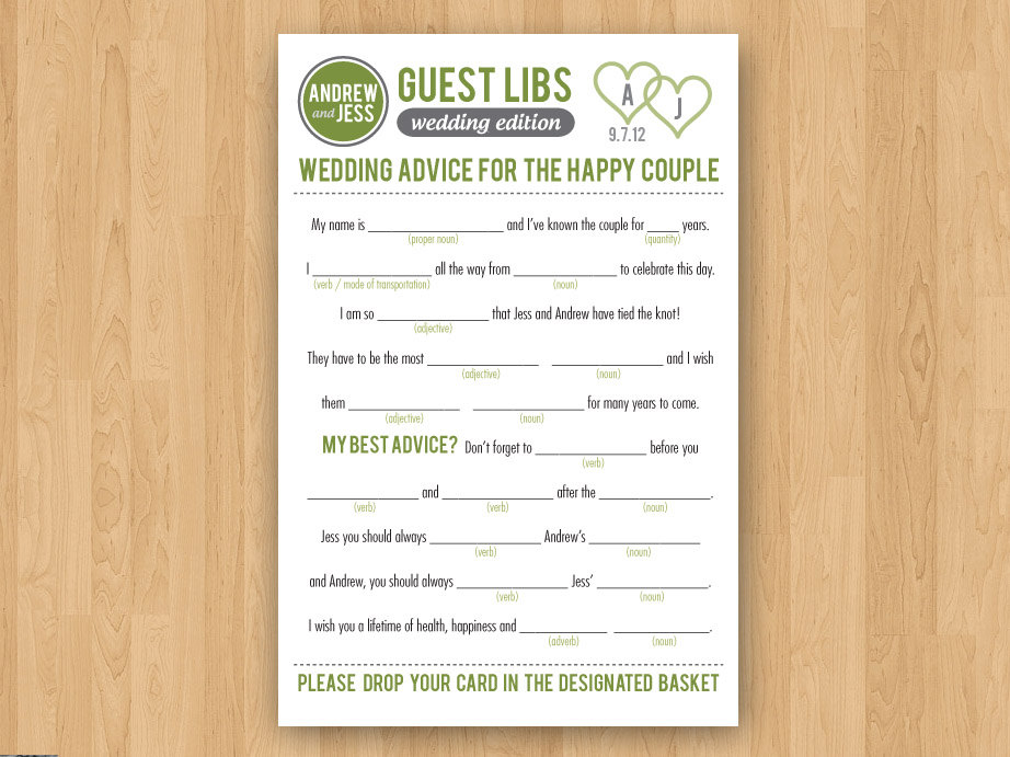 photograph regarding Printable Wedding Mad Libs known as Wedding day Outrageous Libs