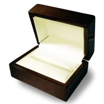 Double Ring Box Wedding Rings Holder Red Cherry Wood Personalized