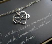 Gift For Daughter From Mom On Wedding Day, Infinity Heart Bracelet