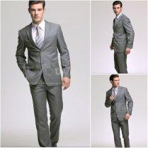 Grey Suit Wedding