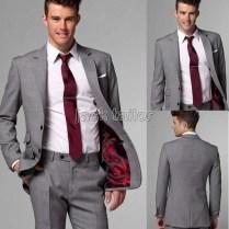 Grey Suit Wedding Dress Yy