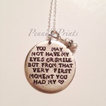 Hand Stamped Step Daughter Necklace, Wedding, Gift For Step