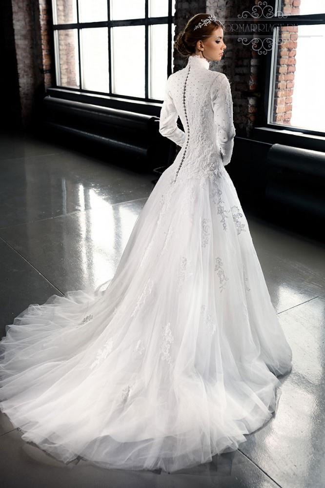 High Collar Wedding Dress