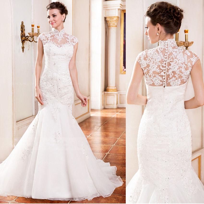 High Collar Wedding Dresses