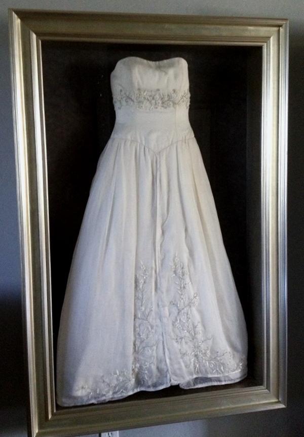 Wedding Dress Glass Display Case