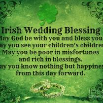 Irish Wedding Blessing Mindy Bench