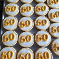 Janis Bakes 50th Wedding Anniversary Cookies
