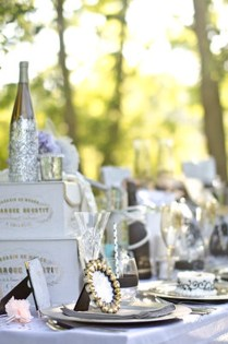 Kara's Party Ideas The Great Gatsby Wedding Table Via Kara's Party