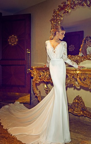 Long Sleeve Lace Fishtail Wedding Dress Â« Bella Forte Glass Studio