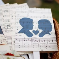 Music Themed Wedding Photo Album