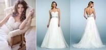 Neckline Silk Wedding Dress