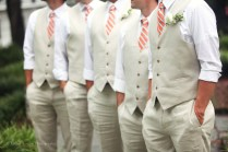 No Jackets Just Rolled Up Sleeves And Vests For The Groomsmen