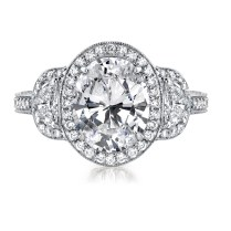 Oval Diamond Wedding Rings Photo Album