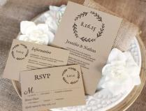 Printable Wedding Invitation Template, Diy Wedding Invitations