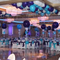 Incredible Purple And Turquoise Wedding Centerpieces Home Interior And Landscaping Synyenasavecom