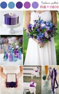 Purple Blue Wedding Colors, Purple Blue Wedding Theme