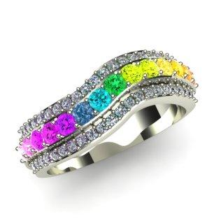 Rainbow Diamond Ring Photo Album