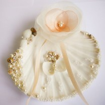 Ring Pillow Holder Shell Ring Holder, Wedding Ring Holder