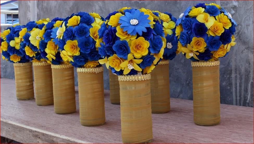 Blue yellow wedding flowers mightylinksfo