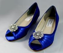 Royal Blue Wedding Shoes Wedge
