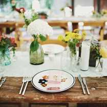 Rustic Wedding Table Toppers