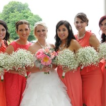 Sarah And Spencer A Pop Of Coral ‹ Lush Florals And Events