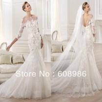 Sleeve Trumpet Wedding Dress