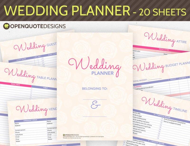 Wedding Ceremony Planning Book Invitationsjdi