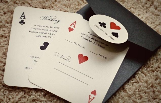 Top Of Las Vegas Wedding Invitations