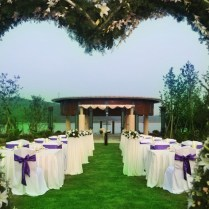 Traditional Outdoors Decorations Night Outdoor Wedding Reception