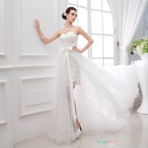 Trumpet Mermaid Wedding Dress Two In One Wedding Dresses Wedding