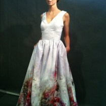Watercolor Wedding Dress