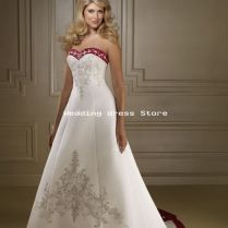 Wedding Dresses Ivory And Burgundy