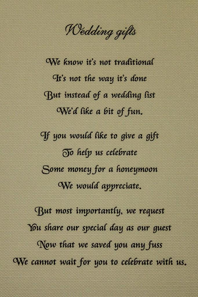 Magnificent Wedding Gift Honeymoon Fund Composition