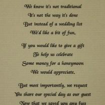 Wedding Invitations Honeymoon Fund