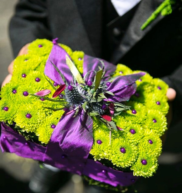 Wedding Wednesday Purple Lime