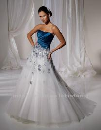 White And Teal Wedding Dress Naf Dresses