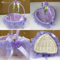 Wholesale Ring Pillows & Flower Baskets At $20 11, Get White Red