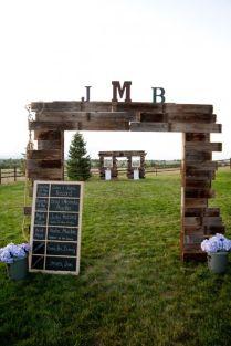Wood Wedding Arch