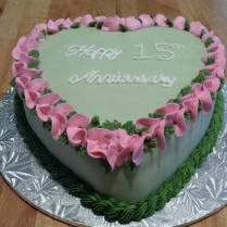 15th Wedding Anniversary Cake