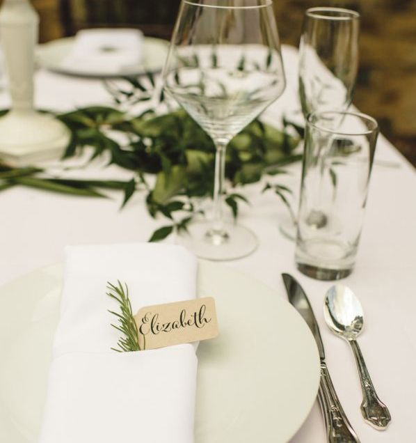 wedding table place setting ideas