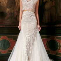 17 Best Images About Crop Top Two Piece Wedding Dresses On
