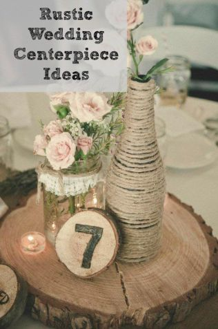 17 Best Images About Rustic Wedding Centerpieces On Emasscraft Org