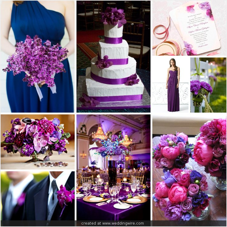 Purple Weddings Ideas: Navy Blue And Purple Wedding Ideas