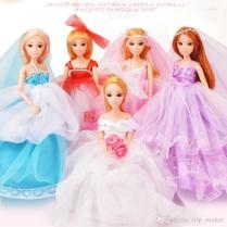 2017 Hot! Legal Copy Flexible Wedding Toys Dolls With Beautiful