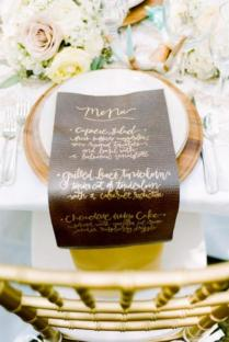 37 Creative Ways To Display Your Wedding Menu