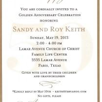 50th Wedding Anniversary Invitation Wording – Fleeciness Info