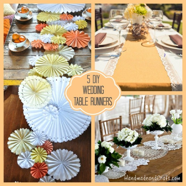 5 Diy Wedding Table Runners