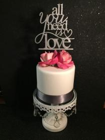 All You Need Is Love, All You Need Is Love Cake Topper, All You
